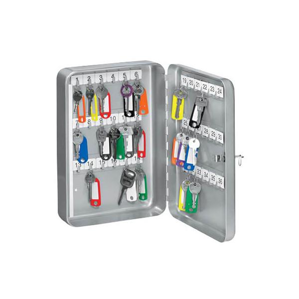 Wedo Schlüsselschrank mit 36 Schlüsselhaken silber