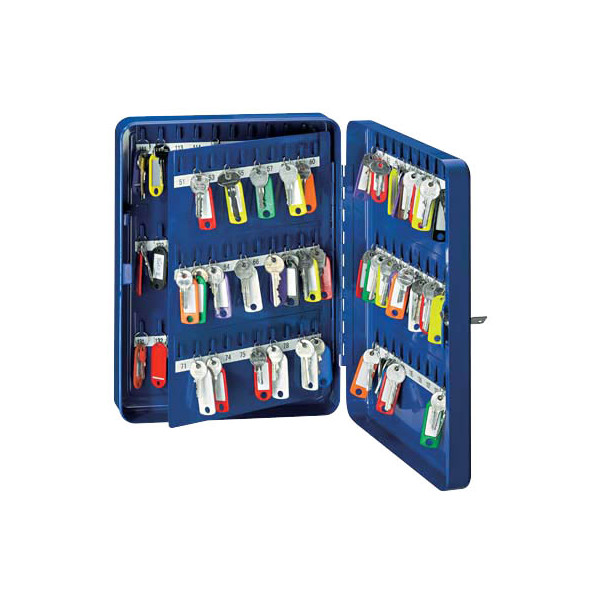 Wedo Schlüsselschrank mit 110 Schlüsselhaken blau
