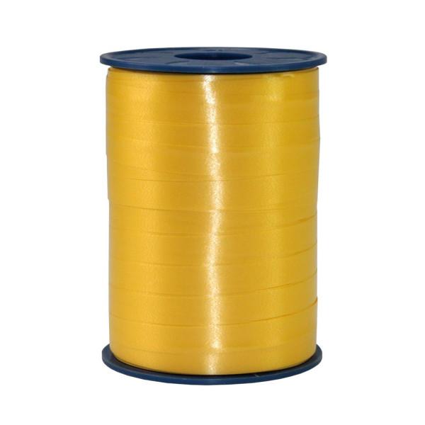 Präsent Geschenkband Ringelband 10mm x 250m gelb