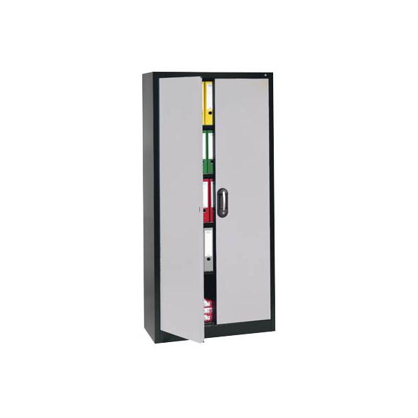 CP Aktenschrank 9460-000, Stahl abschliessbar, 5 OH, 120 x 195 x 40 cm, alu/anthrazit
