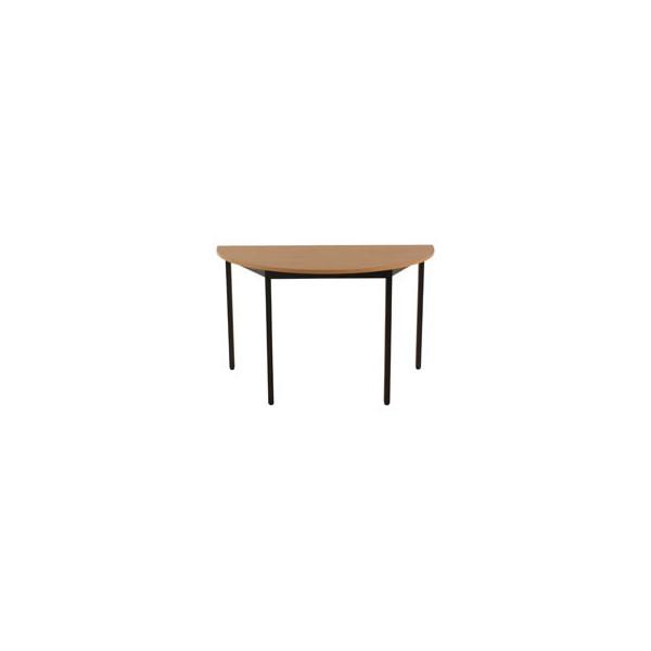 Schreibtisch 120DRHN buche halbrund 120x60 cm (BxT)