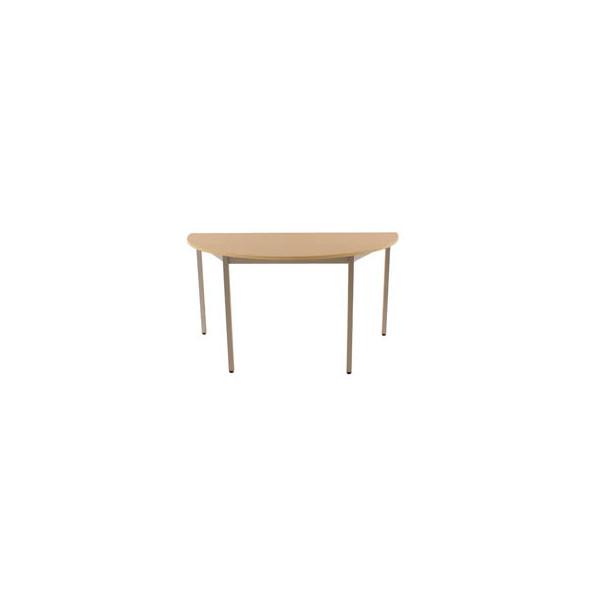 Schreibtisch 140DREA ahorn halbrund 140x70 cm (BxT)