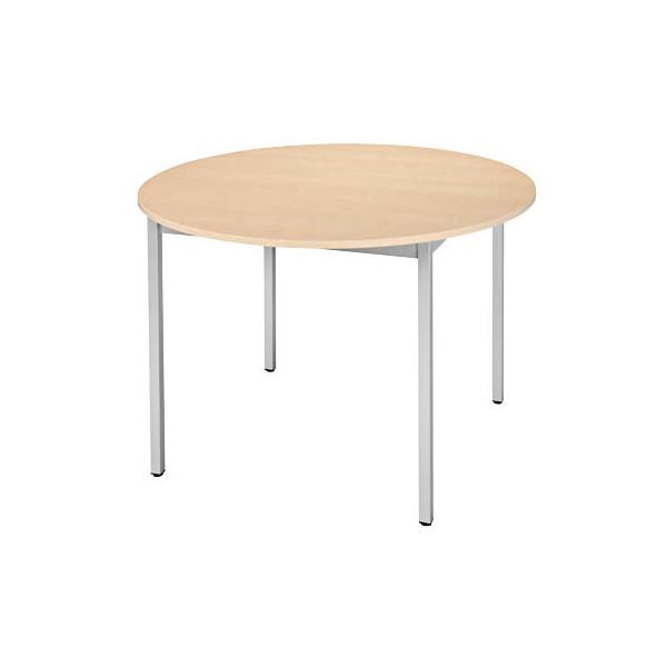 Schreibtisch 80ROEA ahorn rund 80x80 cm (BxT)
