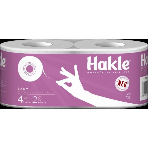 Hakle Toilettenpapier Lady 4189 4-lagig 20 Rollen