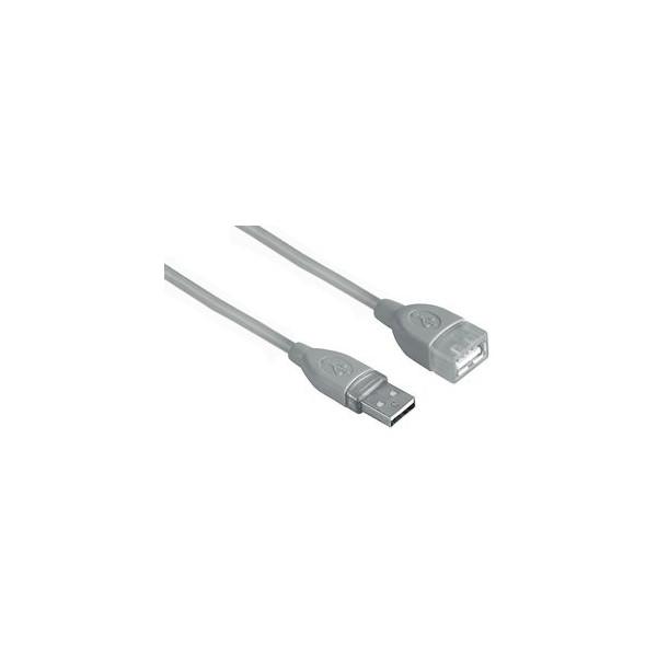 Hama USB-Verlängerungskabel A/A grau 3 Meter