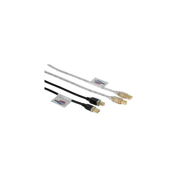 Hama USB2.0-Kabel A-u. B-Stecker schwarz 3m USB 2.0