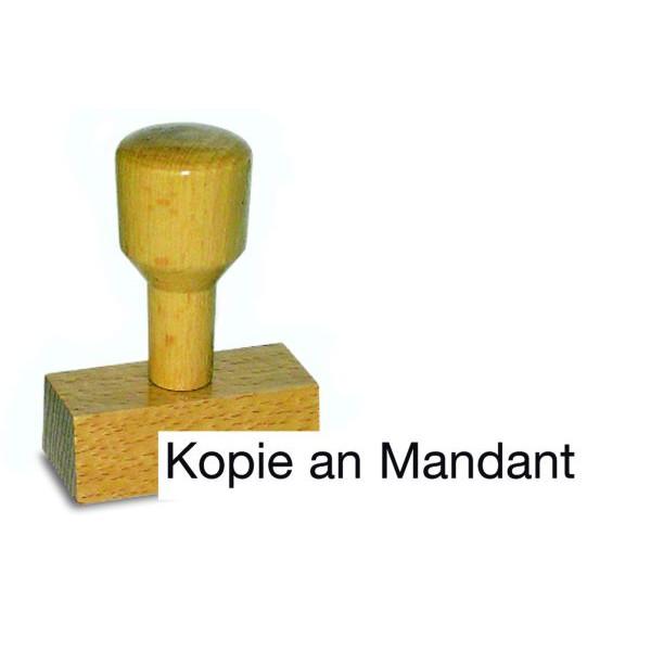 AMOS Holzstempel Kopie an Mandant