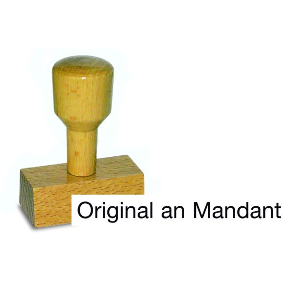 AMOS Holzstempel Original an Mandant