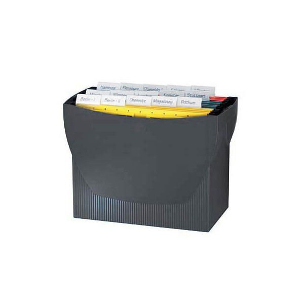 Han Hängemappenbox Swing 1900 schwarz bis 20 Mappen leer