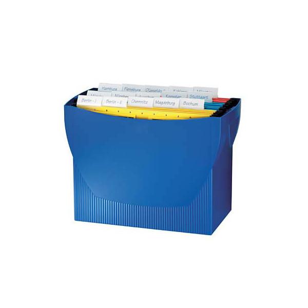 Han Hängemappenbox Swing 1900 blau bis 20 Mappen leer