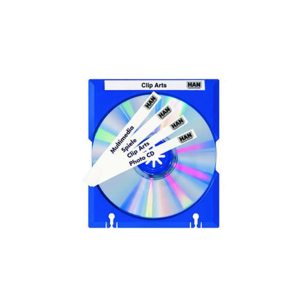 Han Mäx-Tray zur CD-Aufbewahrung blau beschreibbar abheftb.