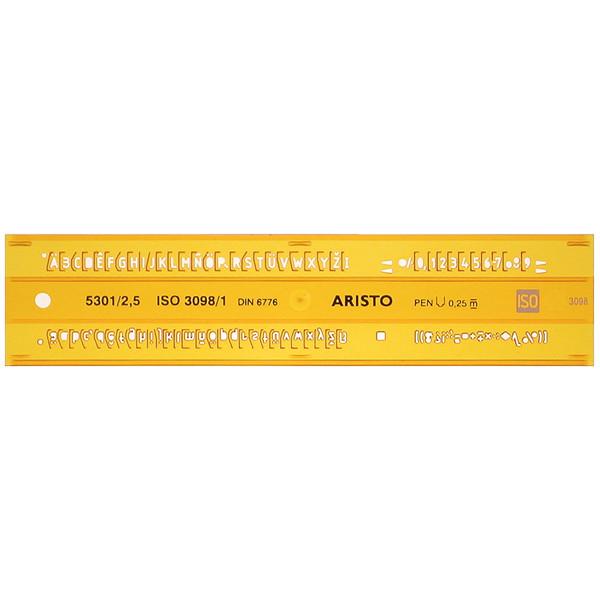 Novus Zeichenschablone Schrifthöhe 2,5mm