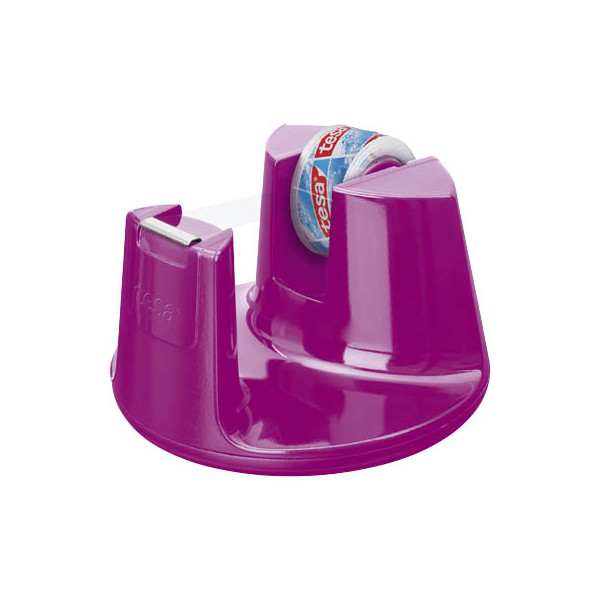 tesa film Tischabroller Compact pink, inkl. 1 Rolle film kristall-klar