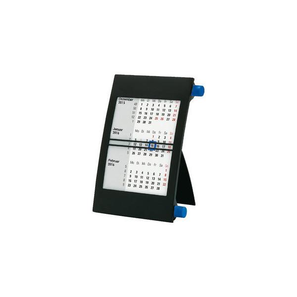 Bühner Dreimonats-Tischkalender 3Monate/1Seite blau 11x18cm 2021