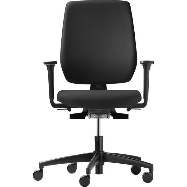 Dauphin speed-o comfort schwarz Bürodrehstuhl mit Armlehnen