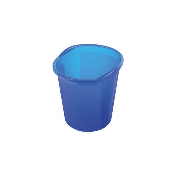 Helit Papierkorb economy 13 Liter blau transluzent
