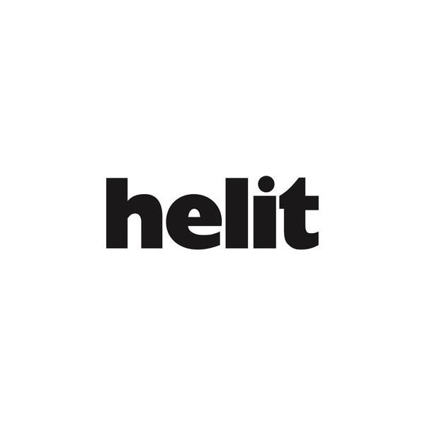 Helit Papierkorb economy 13 Liter rot transluzent
