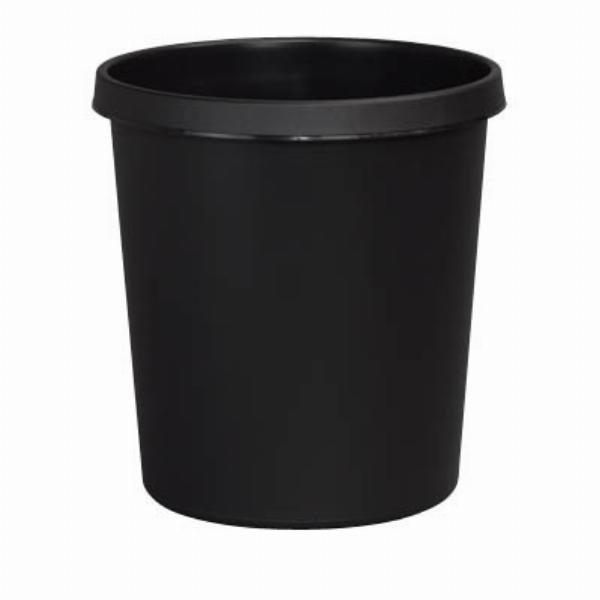 Helit Papierkorb H61058, 18 Liter schwarz