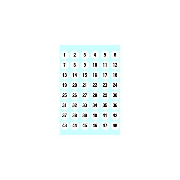 Herma Nummernetiketten 1-240 Papier weiß/sw 12mm rund 4124