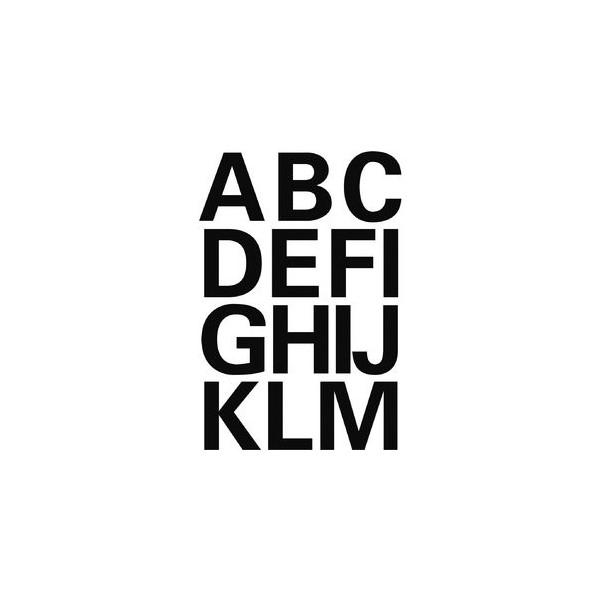 Herma Buchstaben A-Z Folie schwarz 25mm 4167