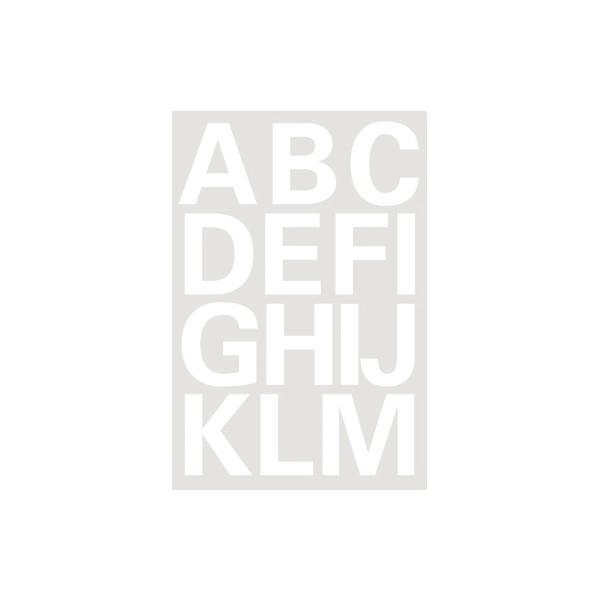 Herma 4169 Buchstaben 25 mm A-Z Folie wetterfest weiß 2 Bl.