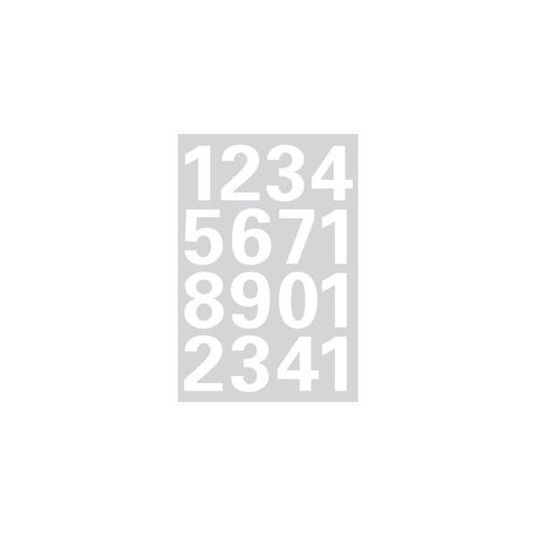Herma Etiketten Ziffern 0-9 Folie weiss 25mm 1 Bl