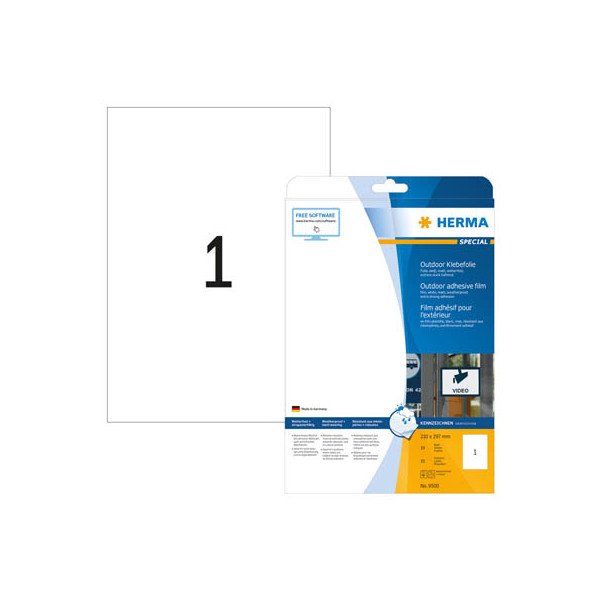 Herma Etiketten 9500 210 x 297 mm weiß 10 Stück Outdoor Klebefolie