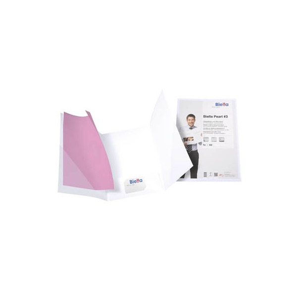 Biella Präsentationsmappe PEARL 3 22,5x31,5cm mit Sichttasche oben