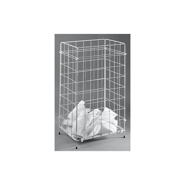 fripa Drahtgitter Papierkorb Sammelkorb 2340013 60 Liter weiß