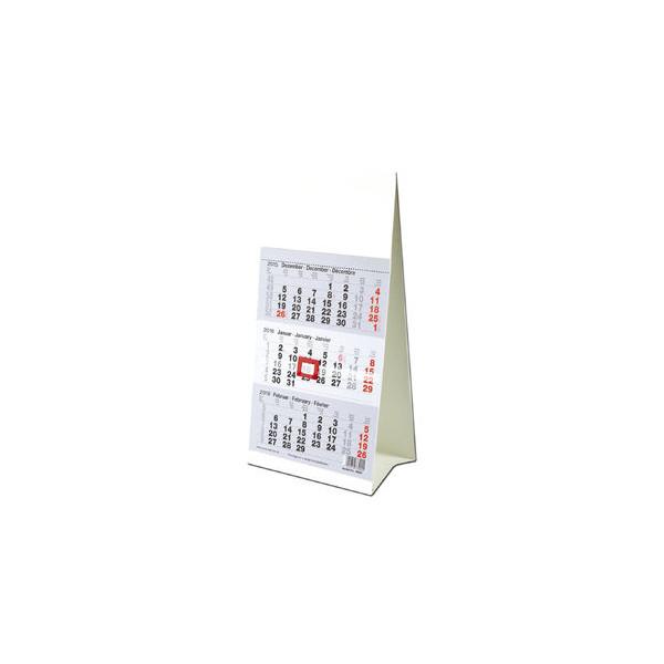 Güss Dreimonats-Tischkalender 78000 3Monate/1Seite weiß 10x18,5cm 2021