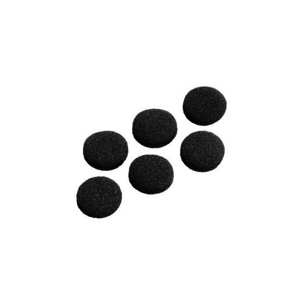 Hama Ersatzohrpolster Schaumstoff schwarz D:19mm 6 St