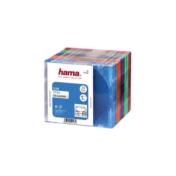 Hama CD-DVD Leerhüllen Hama 51166 sortiert Slimline 25 St