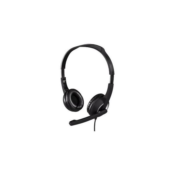 HAMA PC Headset HS-300 Stereo, gepolsterte Ohrmuscheln, ultraleichtes Gewicht,