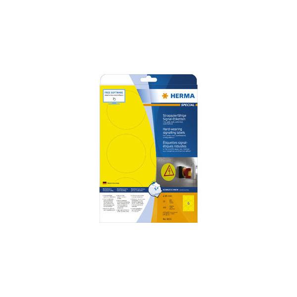 Herma Etiketten Folie D: 85mm gelb D: 85mm 150 St