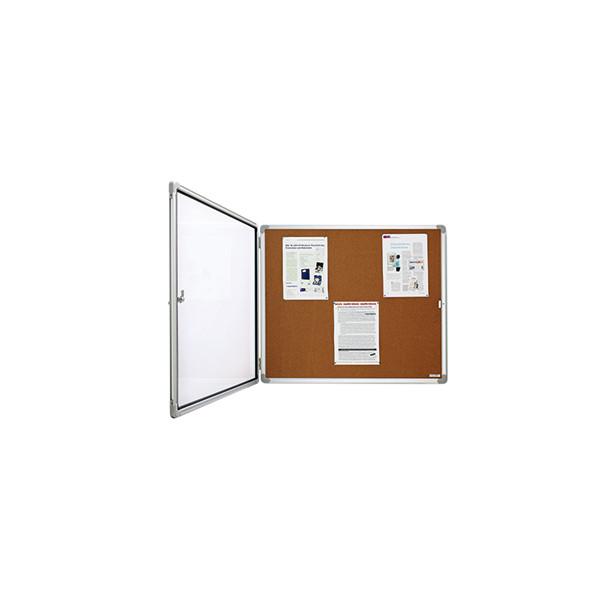 magnetoplan Schaukasten SP 1215324 12 x A4 Korkrückwand braun