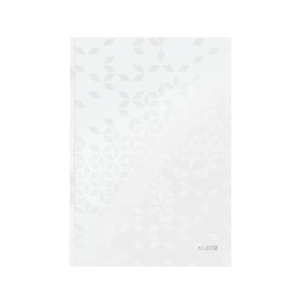 Leitz Notizbuch WOW 90g m.Kopfzeile weiß A4 80 Bl liniert