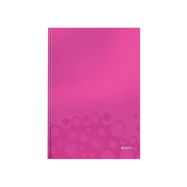 Leitz Notizbuch WOW 90g m.Kopfzeile pink A4 80 Bl liniert