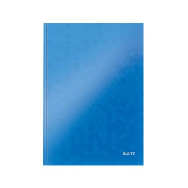 Leitz Notizbuch WOW 90g m.Kopfzeile blau A4 80 Bl liniert