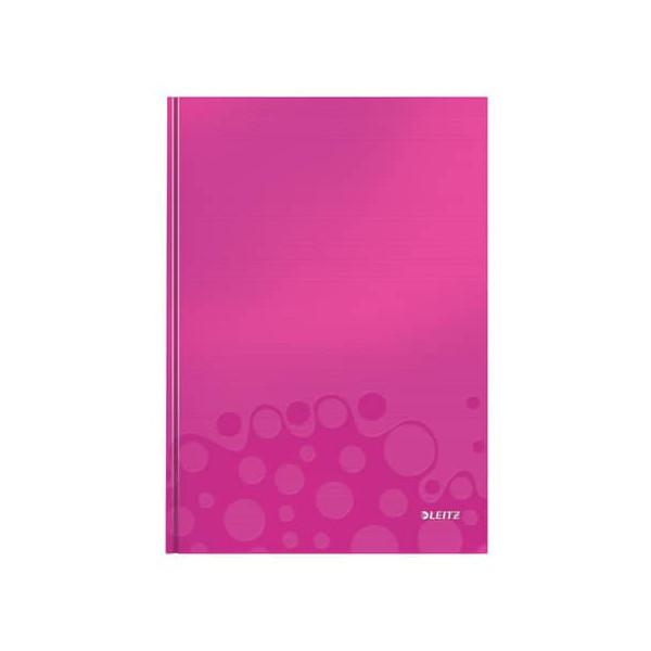 Leitz Notizbuch WOW 90g m.Kopfzeile pink A4 80 Bl kariert