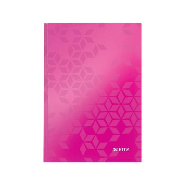 Leitz Notizbuch WOW 90g m.Kopfzeile pink A5 80 Bl liniert
