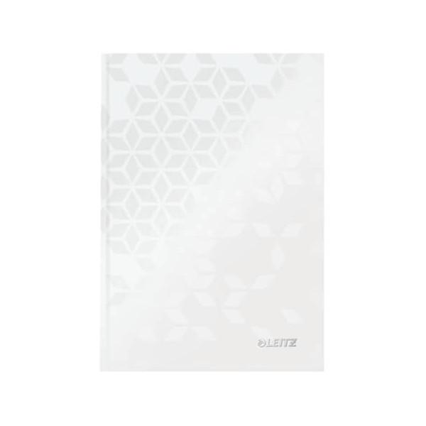 Leitz Notizbuch WOW 90g m.Kopfzeile weiß A5 80 Bl kariert