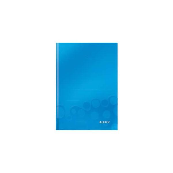 Leitz Notizbuch WOW 90g m.Kopfzeile blau A5 80 Bl kariert