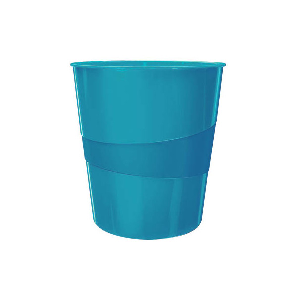 Leitz Papierkorb WOW 15 L Polystyren blau met 324mm hoch