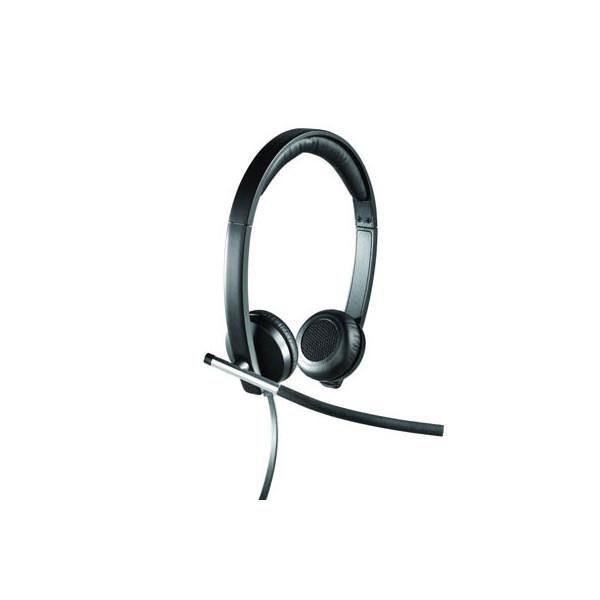 Logitech Headset H650e USB stereo schwarz