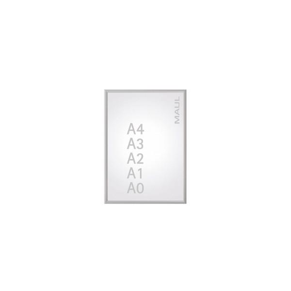 MAUL Plakat-Klapprahmen Standard silber A1 mit Antireflexfolie