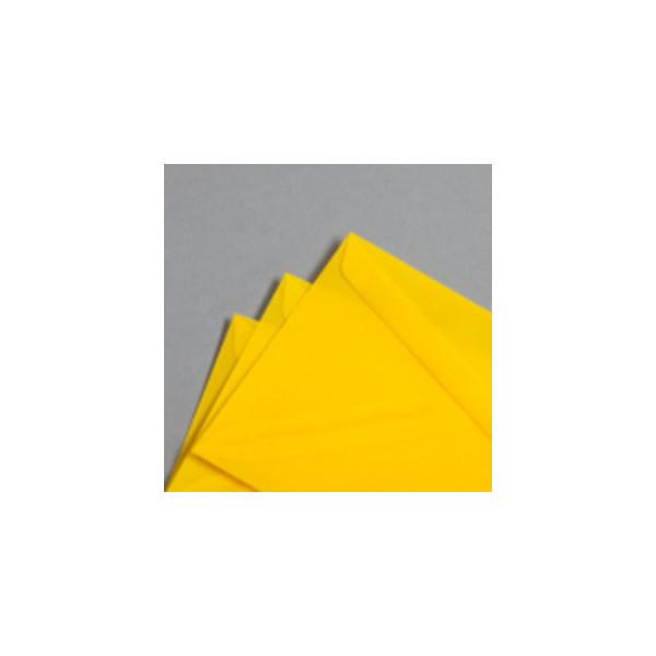 Mayspies Designbriefumschläge Din Lang ohne Fenster haftklebend 100g gelb 50 Stück