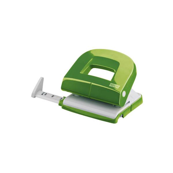 Novus Locher E216 025-0547 grün bis 1,6mm 16 Blatt mit Anschlagschiene