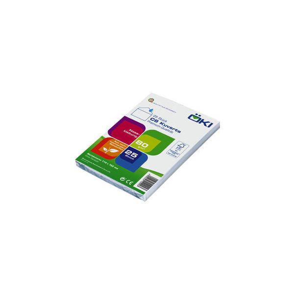 ÖKI Briefumschläge C6 ohne Fenster haftklebend 80g weiß 25 Stück