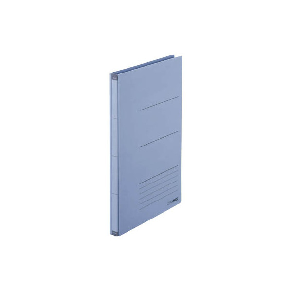 PLUS JAPAN Platzspar-Ordner ZeroMax blau ausziehbare Rückenbreite von 1-10cm