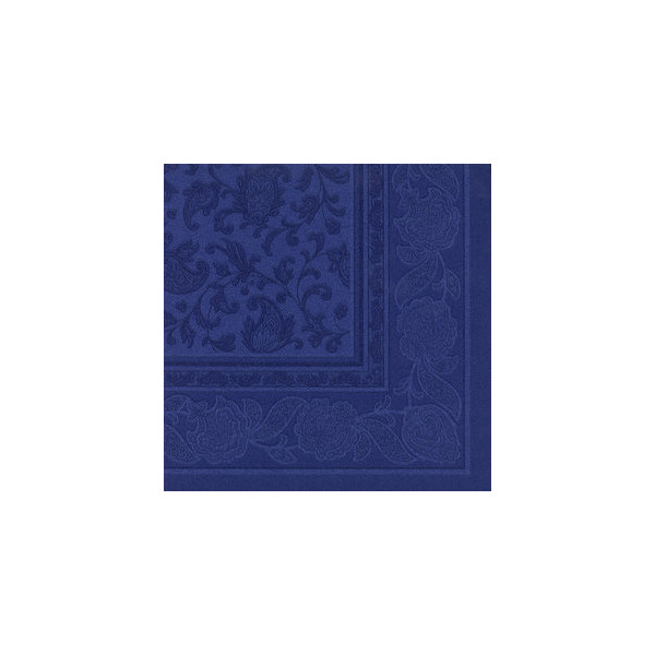 Papstar Servietten ROYAL Col.Ornaments d.blau 40x40cm 50St 1/4 Falz